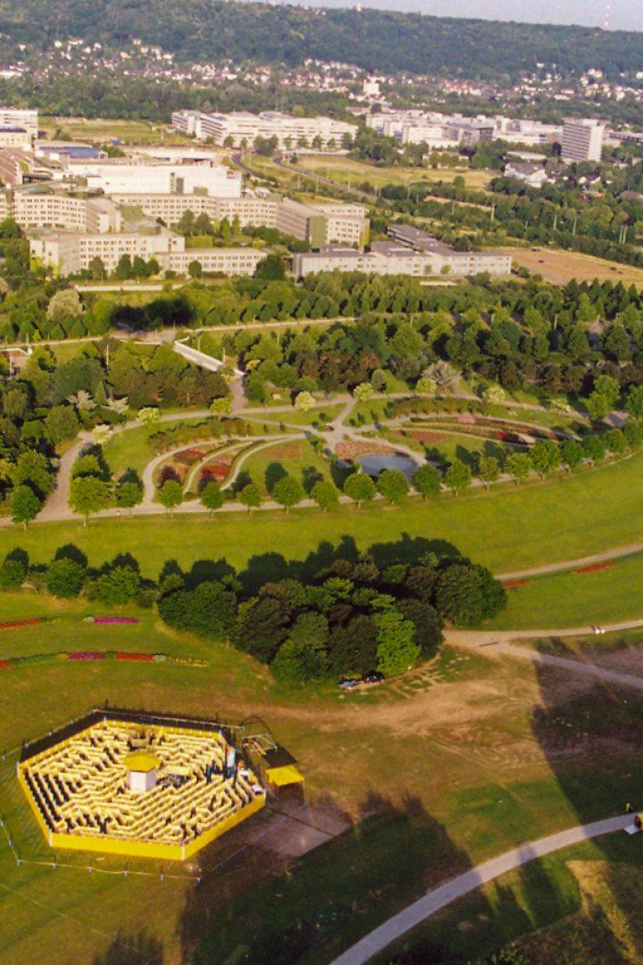 Luftaufnahme vom Labyrinth
